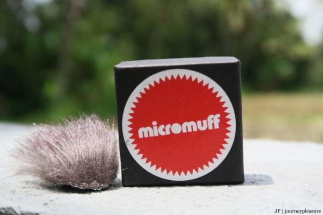 Packliste Micromuff, Windschutz für Mikrofon